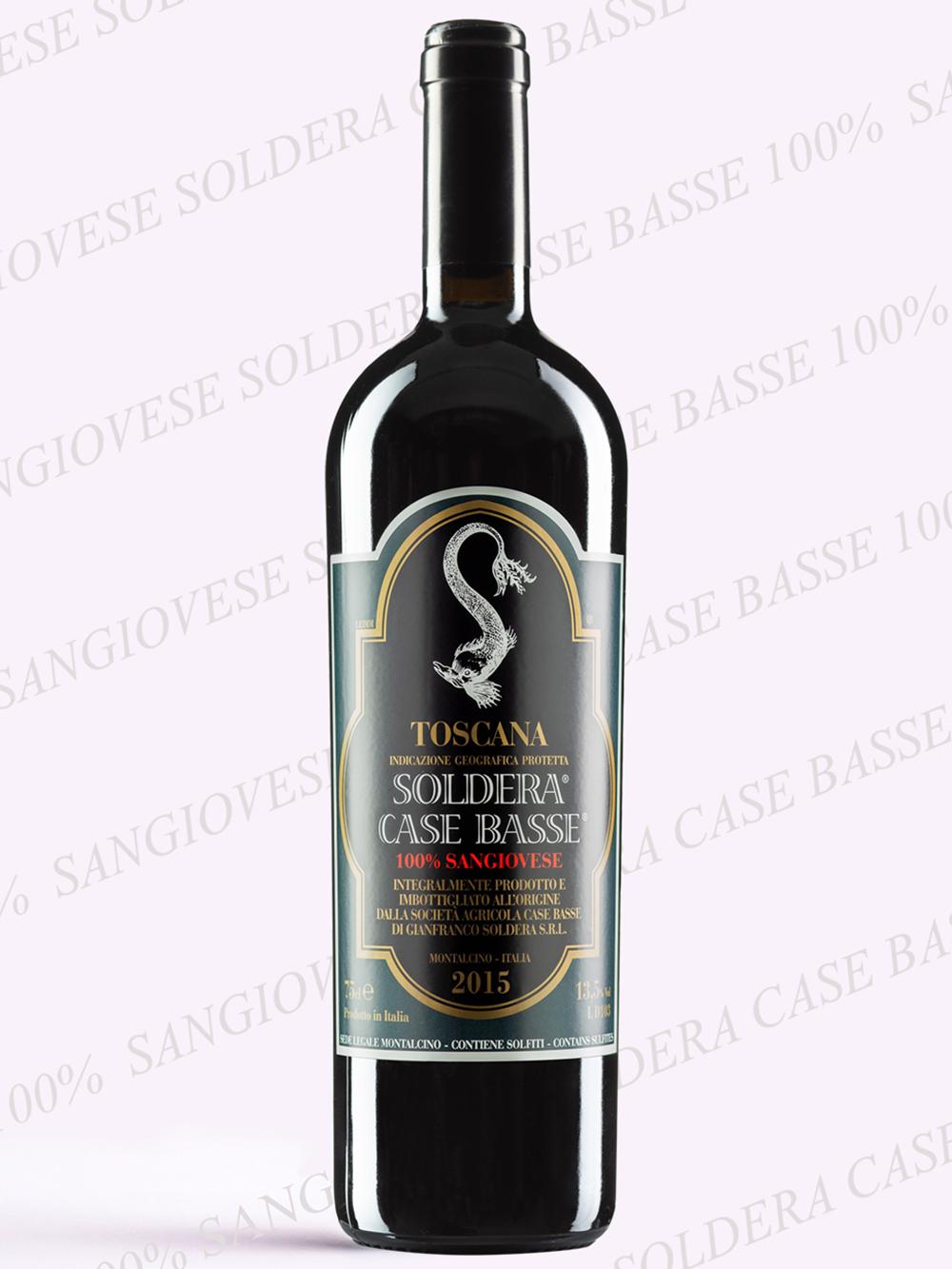 Toscane IGP 100% Sangiovese Soldera® Case Basse®